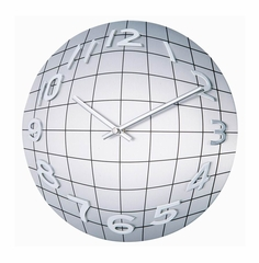 Verichron Metal Convex Globe Wall Clock - 1124