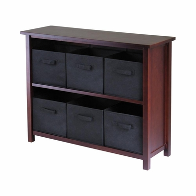Verona 2-Section W Storage Shelf - Winsome Trading - 94291