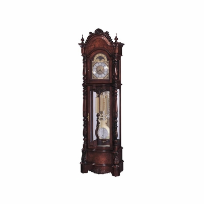 Veronica Grandfather Clock in Windsor Cherry - Howard Miller
