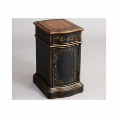 Versailles Black Chairside Table - Pulaski