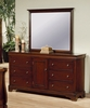 Versailles Dresser with Mirror in Deep Mahogany - Coaster - 201483-84-SET
