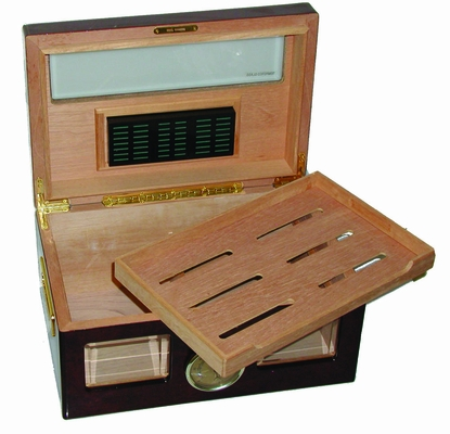 Versailles Glass Top Cigar Humidor - HUM-100WIN