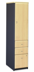 Vertical Locker (Assembled) - Series A Beech Collection - Bush Office Furniture - WC14375SU