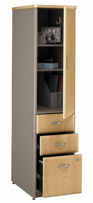 Vertical Locker (Assembled) - Series A Light Oak Collection - Bush Office Furniture - WC64375SU