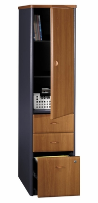 Vertical Locker (Assembled) - Series A Natural Cherry Collection - Bush Office Furniture - WC57475SU
