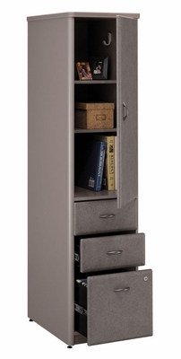 Vertical Locker (Assembled) - Series A Pewter Collection - Bush Office Furniture - WC14575SU