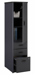 Vertical Locker (Assembled) - Series A Slate Collection - Bush Office Furniture - WC84875SU