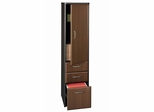 Vertical Locker (Assembled) - Series A Walnut Collection - Bush Office Furniture - WC25575SU