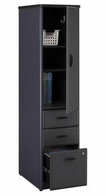 Vertical Locker - Series A Slate Collection - Bush Office Furniture - WC84875