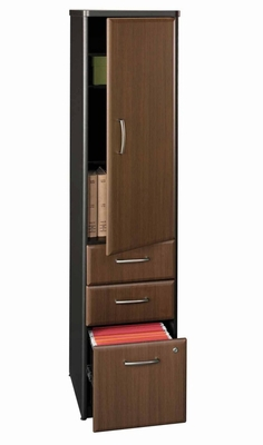 Vertical Locker - Series A Walnut Collection - Bush Office Furniture - WC25575