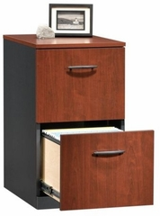Via 2-Drawer Pedestal Classic Cherry / Soft Black - Sauder Furniture - 401444