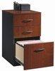 Via 3-Drawer Pedestal Classic Cherry / Soft Black - Sauder Furniture - 401443