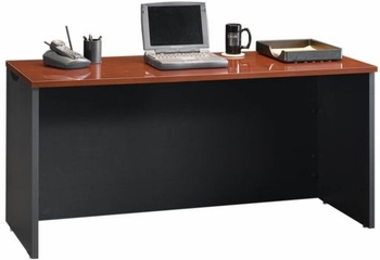 Via Credenza Classic Cherry / Soft Black - Sauder Furniture - 401448
