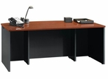 Via Executive Desk Classic Cherry / Soft Black - Sauder Furniture - 401447