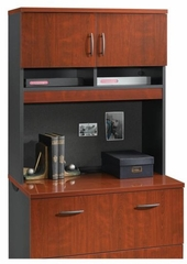Via Hutch For 401441 Classic Cherry / Soft Black - Sauder Furniture - 401445