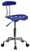 Vibrant Nautical Blue & Chrome Computer Task Chair - LF-214-NAUTICALBLUE-GG