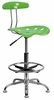 Vibrant Spicy Lime & Chrome Drafting Stool - LF-215-SPICYLIME-GG