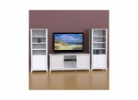 Vice Versa 58'' TV Stand & 2 Curio Cabinets - Nexera Furniture
