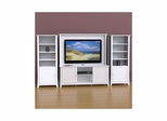 Vice Versa 58'' TV Stand, Wall Panel & 2 Curio Cabinets - Nexera Furniture