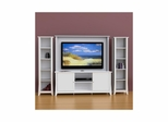 Vice Versa 58'' TV Stand, Wall Panel & 2 Slim Bookcases - Nexera Furniture
