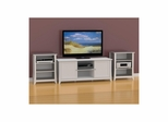 Vice Versa 58'' TV Stand with 2 Stereo Cabinets - Nexera Furniture