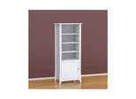 Vice Versa Curio Cabinet - Two-Sided Reversible Door, 3 Adjustable Shelves - Nexera Furniture