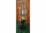 Victorian Four Layer Iron Plant Shelf - Black - Pangaea Home and Garden Furniture - FM-C3080P-K