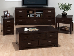 Vienna Espresso Casual 4PC Livingroom Table Set - 046-5