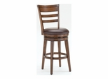 Villagio Dark Chestnut Swivel Ladder Back Stool - Hillsdale