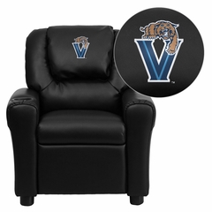 Villanova University Wildcats Black Vinyl Kids Recliner - DG-ULT-KID-BK-40032-EMB-GG