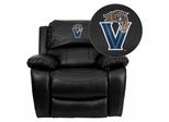 Villanova University Wildcats Embroidered Black Leather Rocker Recliner  - MEN-DA3439-91-BK-40032-EMB-GG