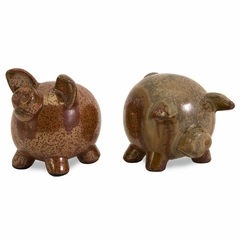 Vincentio Small Pigs (Set of 2) - IMAX - 40108-2