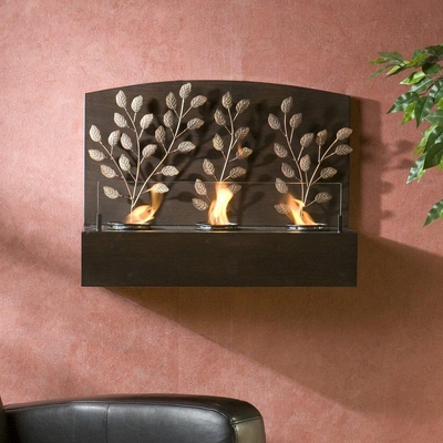 Vine Wall Mount Gel Fuel Fireplace - Holly and Martin