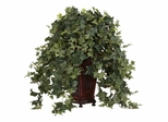 Vining Puff Ivy with Decorative Vase Silk Plant - Nearly Natural - 6702