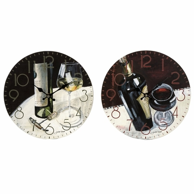 Vino Clocks (Set of 2) - IMAX - 37015-2
