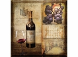 Vintage Wine Square Shape Wall Art - 960579