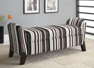 Vinyl Storage Bench with Curved Ends - 500950