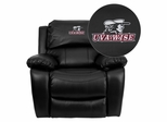 Virginia College at Wise Highland Cavaliers Leather Rocker Recliner - MEN-DA3439-91-BK-41095-EMB-GG