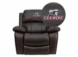 Virginia College at Wise Highland Cavaliers Leather Rocker Recliner - MEN-DA3439-91-BRN-41095-EMB-GG