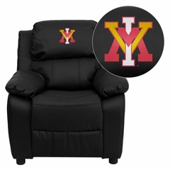 Virginia Military Institute Keydets Black Leather Kids Recliner - BT-7985-KID-BK-LEA-45028-EMB-GG