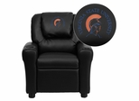 Virginia State University Trojans Black Vinyl Kids Recliner - DG-ULT-KID-BK-41109-EMB-GG