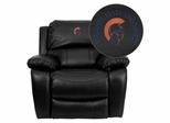 Virginia State University Trojans Embroidered Black Leather Rocker Recliner  - MEN-DA3439-91-BK-41109-EMB-GG