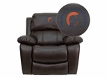 Virginia State University Trojans Embroidered Brown Leather Rocker Recliner  - MEN-DA3439-91-BRN-41109-EMB-GG