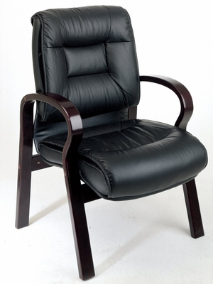 Visitor Chair - Office Star - 8505 - Executive Leather Medium-Back