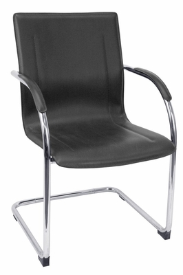 Visitor Chair(Set of 4) - Entrepreneur Vinyl Side Chair - 8004BK-SET