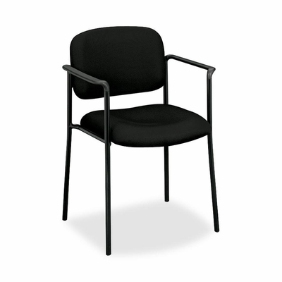 Visitor Chair With Arms - Black Fabric - BSXVL616VA10