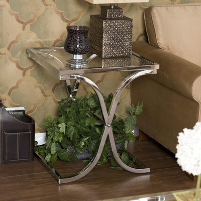 Vogue Chrome End Table - Holly & Martin