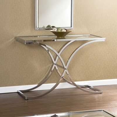 Vogue Chrome Sofa Table - Holly & Martin