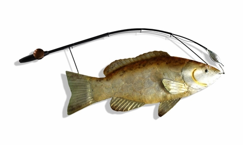 Wall Art - Metal Fish Wall Plaque - Style Craft - CJP197-DS