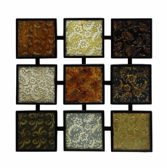 Wall Art - Metal Langston Squares Wall Art - Style Craft - WI4-1022-DS